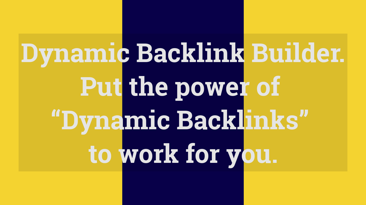 dynamic backlink too free backlinks