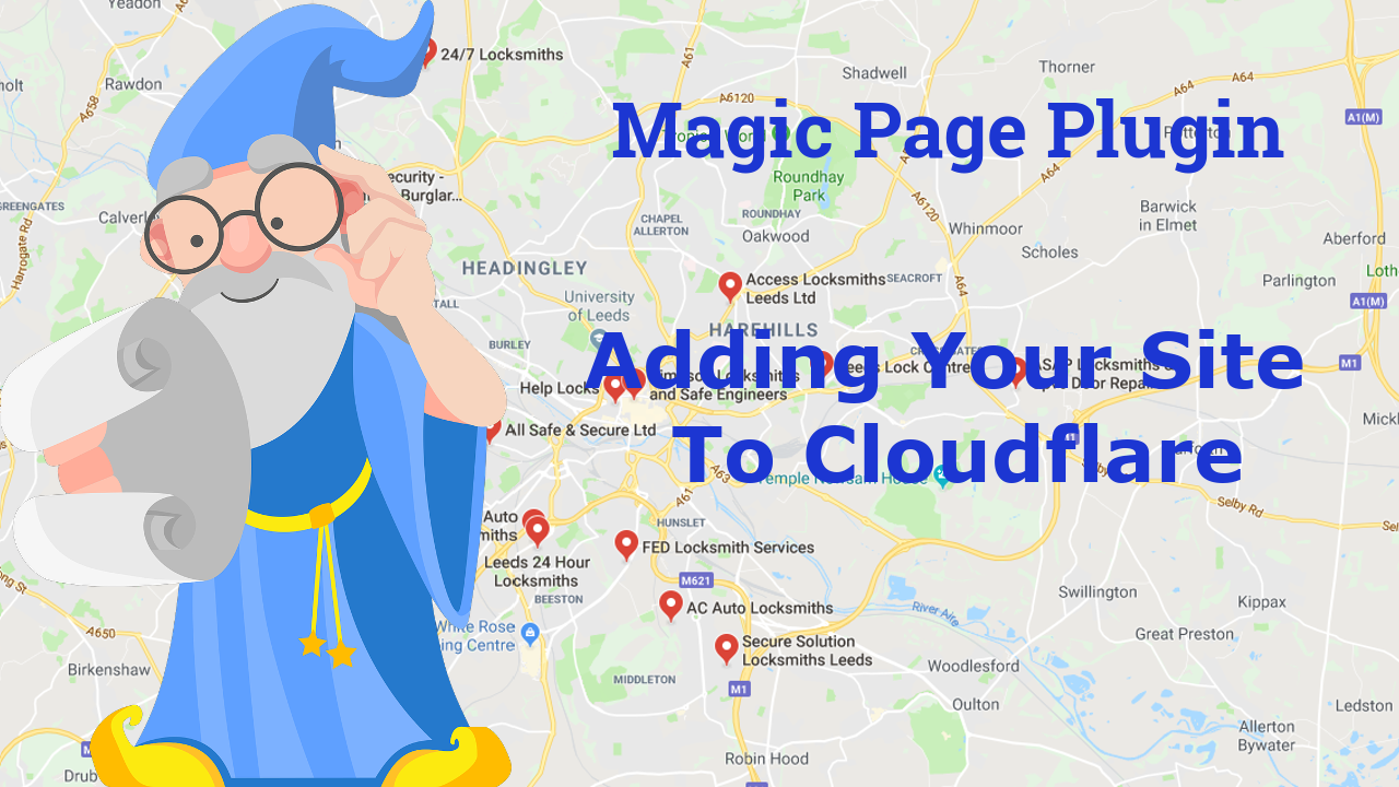 Magic Page Plugin Adding Site To Cloudflare