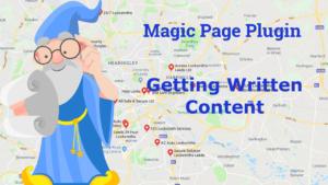 Magic Page Plugin Getting Written Content