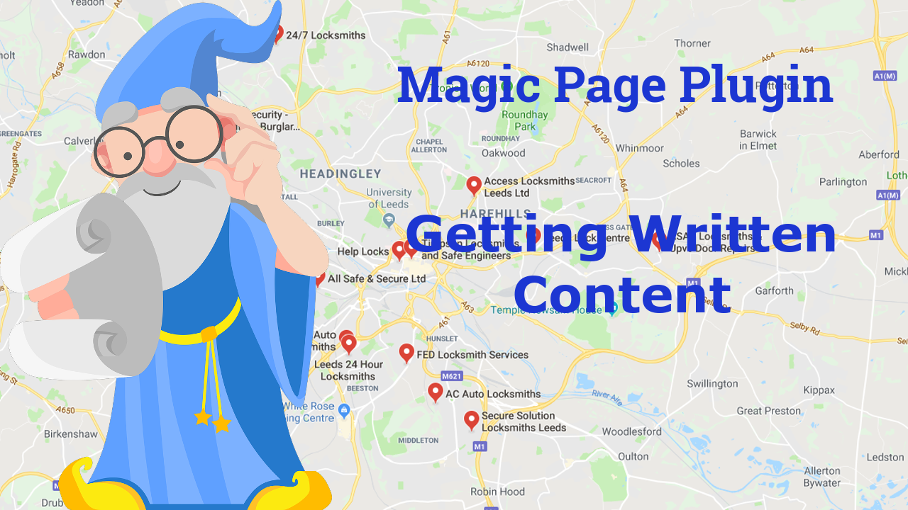 Magic Page Plugin Getting Written Content