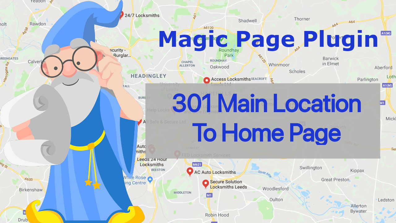 Magic Page Plugin 301 Redirect To Main Location
