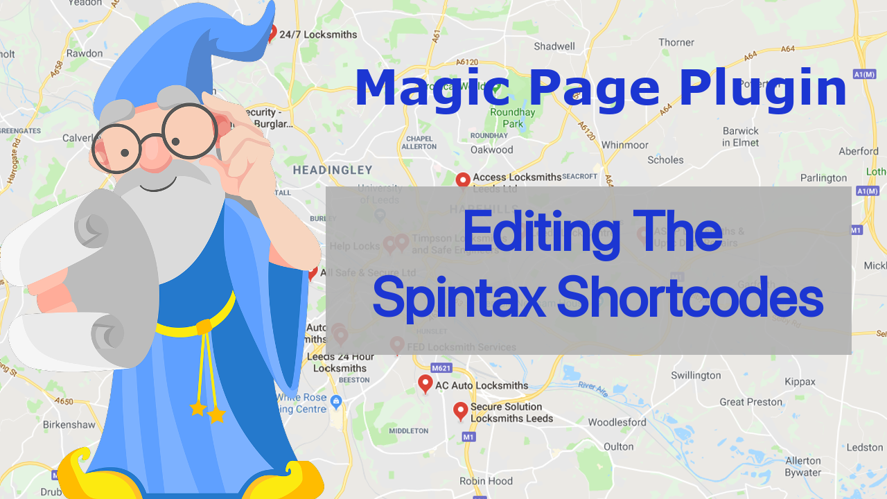 Magic Page Plugin Training Editing Spintax Shortcodes