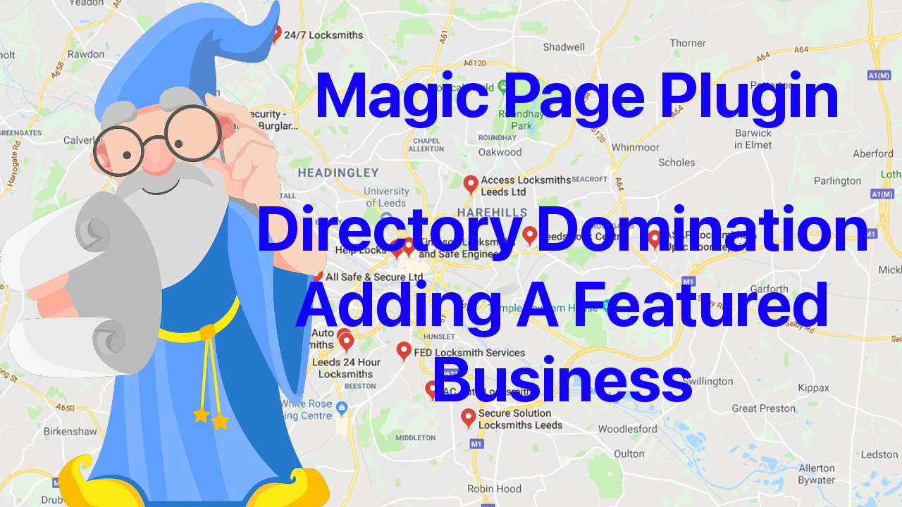 Magic Page Plugin Directory Domination Adding A Featured Business To Homepage