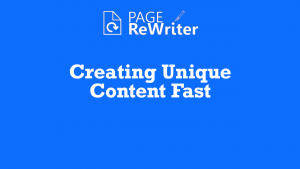 Page Rewriter Creating Free SEO Content Fast